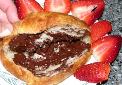 Chocolate Spread on Croissant