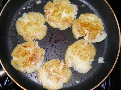Potatoes in the pan