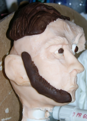 Roughly made chocolate head