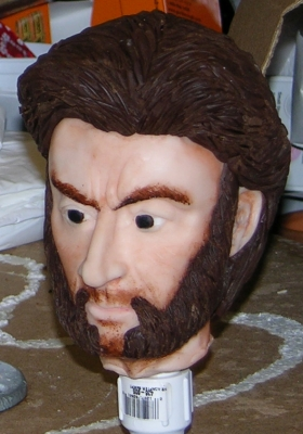 Wolverine Head In Modelling Chocolate