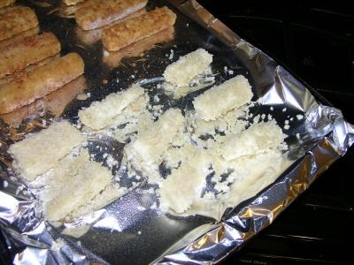 Uncooked breaded parsnips
