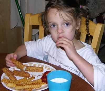 Peo tastes breaded parsnips