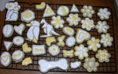 Iced wet cookies