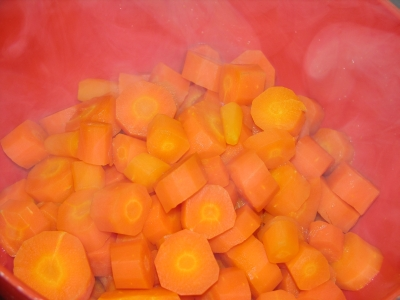 Chicken Dinner - Carrot Souffle 2 - Boiled Carrots