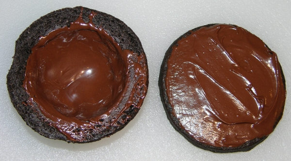 coating cookie in chocolate