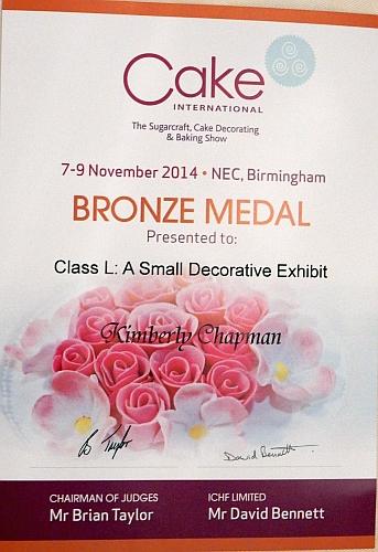 Bronze Medal Certificate