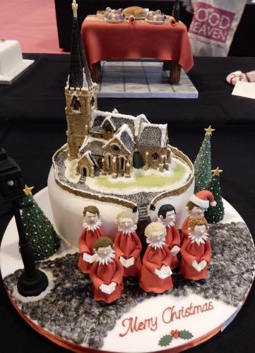 Christmas church cake