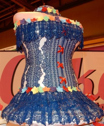 blue edible lace