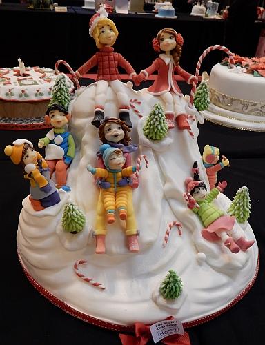 sledding cake