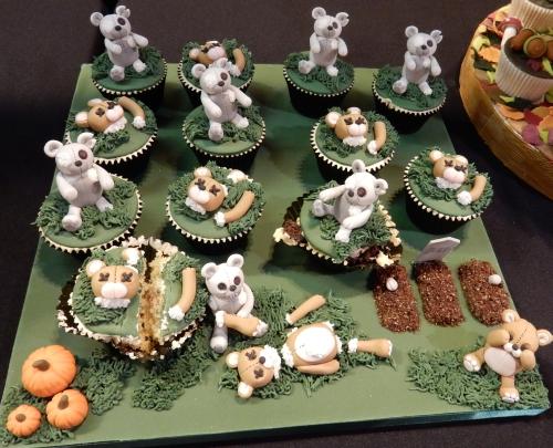 zombie bear cupcakes