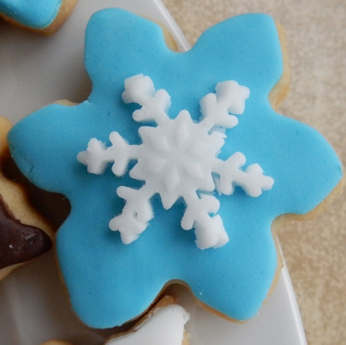snowflake mini cookie