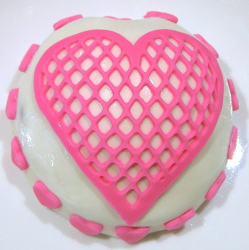 heart cookie from above