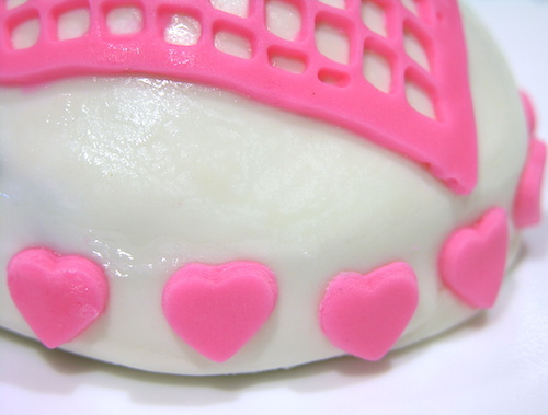 heart cookie mini hearts detail