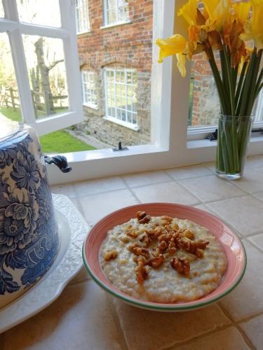 oatmeal on windowsill