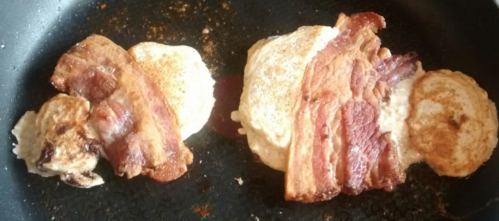bacon pancakes flipped