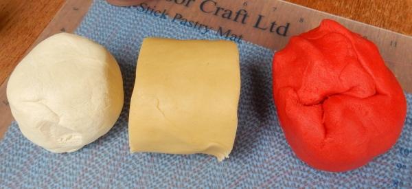 coloured dough