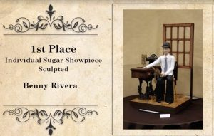 1st Place Individual Sugar Showpiece Sculpted Benny Rivera