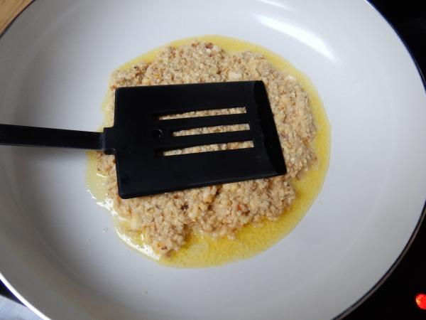 pressing down pancake