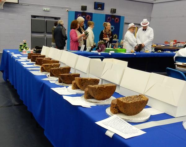 table full of fruit cakes