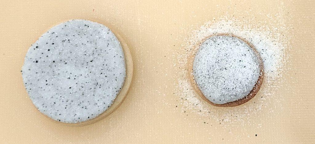 sanding sugar on cookie