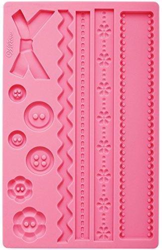 pink ribbon wilton mould