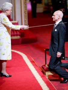 Queen knighting Patrick Stewart